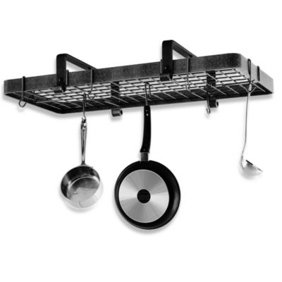 Enclume® Premier Collection Low Ceiling Rectangle Pot Rack with Grid