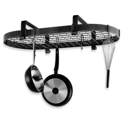 Enclume® Premier Collection Low Ceiling Oval Pot Rack with Grid
