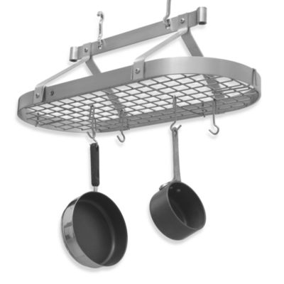 Oval Pot Rack with Grid
