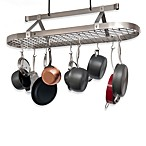 Enclume® Premier Collection 4-Foot Stainless Steel Oval Pot Rack with Grid