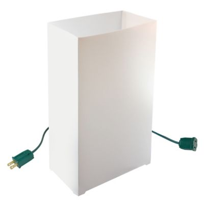 Electric White Luminaria Kitin 10 Count