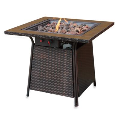 UniFlame® LP Gas Outdoor Firebowl with Tile Mantel by Blue Rhino