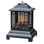 UniFlame® 40.5-Inch Black Outdoor Firehouse