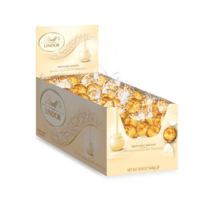 Lindt Lindor Truffles White Chocolate 120-Count Box