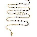 Charlene K 14 Karat Gold Vermeil Onyx Mini Gemstones 41-Inch Necklace