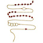 Charlene K 14 K  Gold Vermeil Coral Mini Gemstones 41-Inch Necklace
