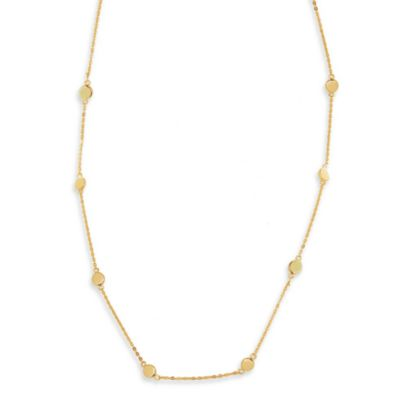 Charlene K 14K Gold Vermeil Multiple Circles Station 41-Inch Necklace