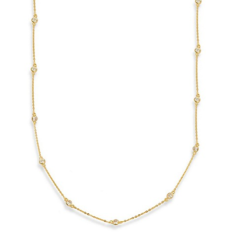 Charlene K 14K Gold Vermeil Diamond by the Yard 41-Inch Necklace