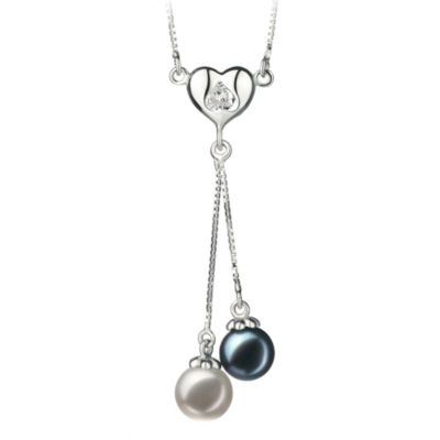 Japanese Akoya Black/White Pearl Necklace