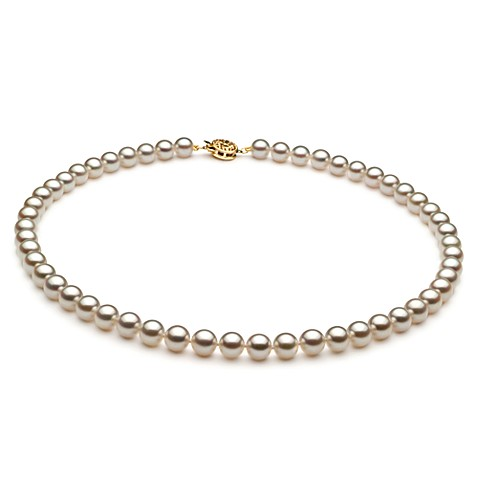 Japanese Akoya White Pearl Necklace