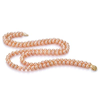 Freshwater 6.0-6.5MM Pearl Double Necklace