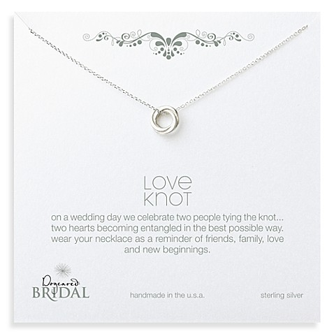 Dogeared® Love Knot Necklace in Sterling Silver