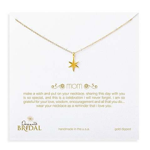 Dogeared® Mom Bright Star Charm Gold-Plated Necklace