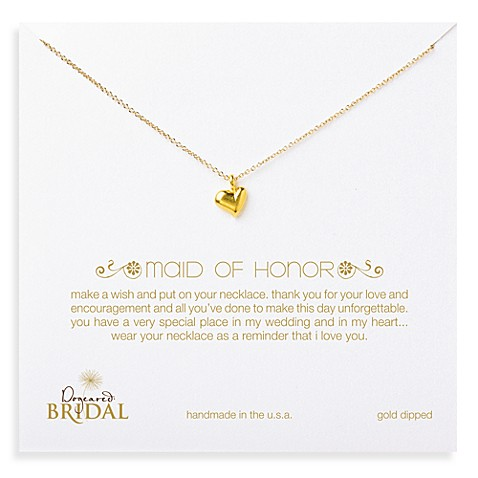 Dogeared® Maid of Honor Full Heart Gold-Plated Necklace