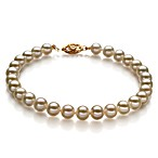 White Freshwater Cultured 5.0-5.6MM Pearl Bracelet