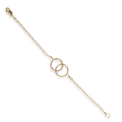 Charlene K 14K Gold Vermeil Interlocking Circles Bracelet