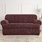 Sure Fit® Stretch Jacquard T-Cushion 2-Piece Loveseat Slipcover