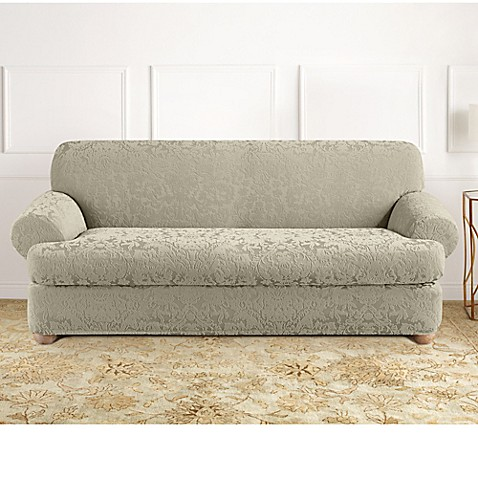 Sure Fit Stretch Jacquard T Cushion 2 Piece Sofa