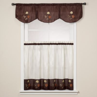 Rose Chocolate Window Curtain Tiers