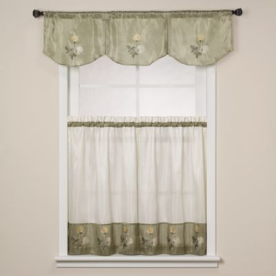 24-Inch Window Curtain Tiers in Rose Sage