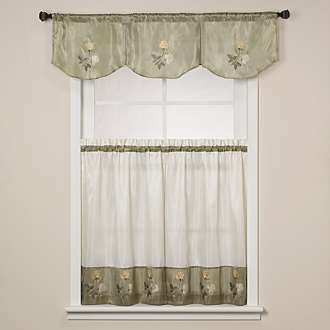 Inverted Window Valance in Rose Sage