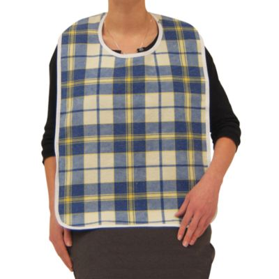 Lifestyle Essentials Medium Flannel Bib in Blue/Yellow