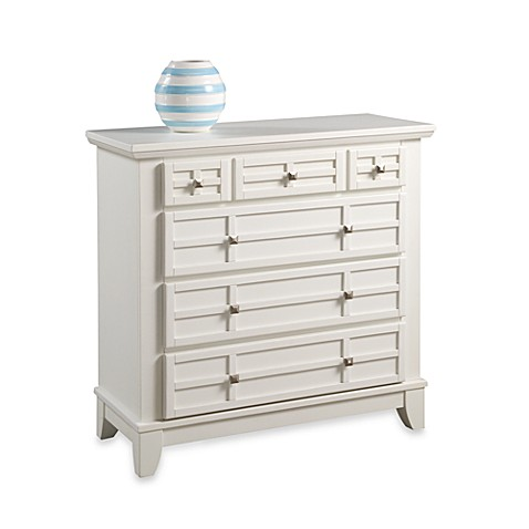 Home Styles Arts & Crafts Chest in White