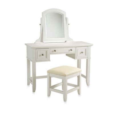 Home Styles Naples White Vanity & Bench