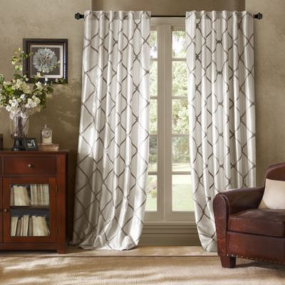 Bombay™ Garrison 95-Inch Rod Pocket/Back Tab Window Curtain Panel in White