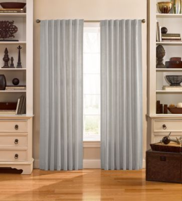 Catania 108-Inch Velvet Back Tab Window Curtain Panel in Plum