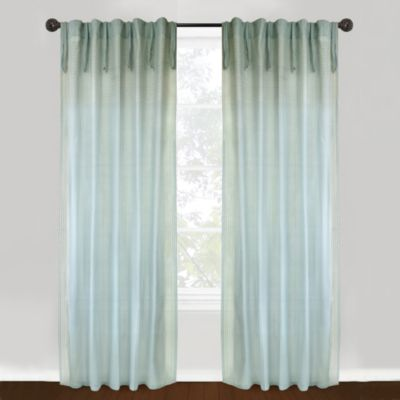 Park B. Smith Vintage House Bellaire 84-Inch Window Curtain Panel in Sage/Natural
