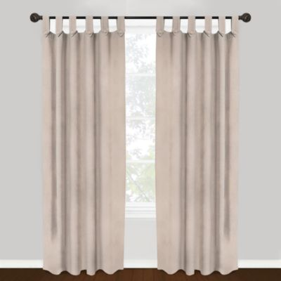 Park B. Smith Vintage House Brighton Tab Top 84-Inch Window Curtain Panel in Beige