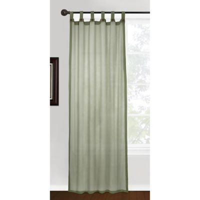 Park B. Smith Vintage House Eco Leno 84-Inch Tab Top Window Curtain Panel in Sage