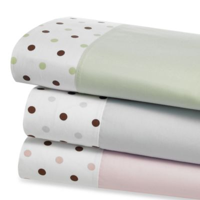 TL Care® Cotton Crib Sheet in Celery Dot