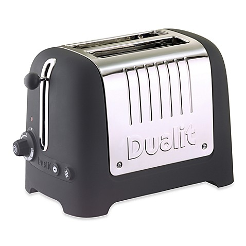 Dualit® Lite 2-Slice Commercial Soft Touch Toaster in Black