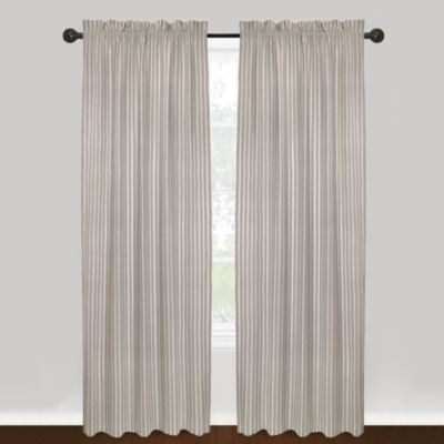Park B. Smith® Vintage House Jasmine Rod Pocket 84-Inch Window Curtain Panel in Silver/White