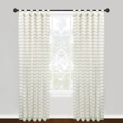 Park B. Smith® 100% Cotton Vintage House Hutton Tab Top 84-Inch Window Curtain Panel – Natural