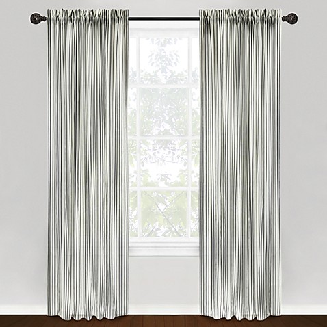 Park B. Smith Vintage House Loire Rod Pocket 84-Inch Window Curtain Panel - Ivory