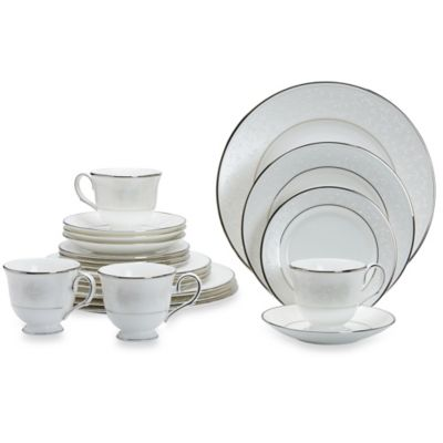 Platinum White China Dinnerware