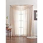 Linen Sheer 84-Inch Rod Pocket Window Curtain Panel in Flax