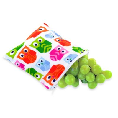 Itzy Ritzy® Snack Happens™ Reusable & Washable Snack Bag in Hoot
