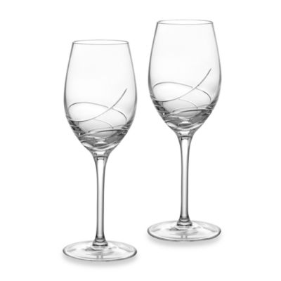 Waterford® Ballet Ribbon Essence Crystal 14-Ounce White Wine Glass (Set of 2)