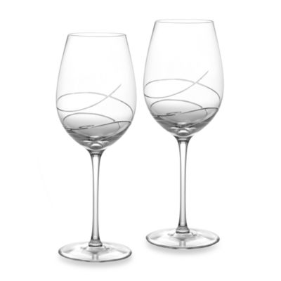 Waterford® Ballet Ribbon Essence Crystal 19-Ounce Red Wine Goblet (Set of 2)