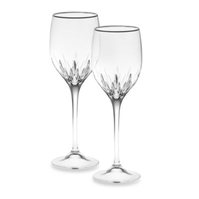 Vera Wang Wedgwood® Duchesse Platinum Crystal 14-Ounce Wine Glass (Set of 2)