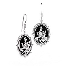 The Official Twilight Jewelry Collection Cullen Crest Sterling Silver Drop Earrings