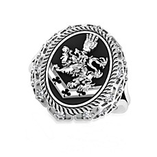 The Official Twilight Jewelry Collection Cullen Crest Women's White Topaz Ring - Size 5