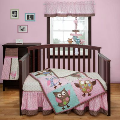 Bananafish® Calico Owls 3-Piece Crib Bedding Set