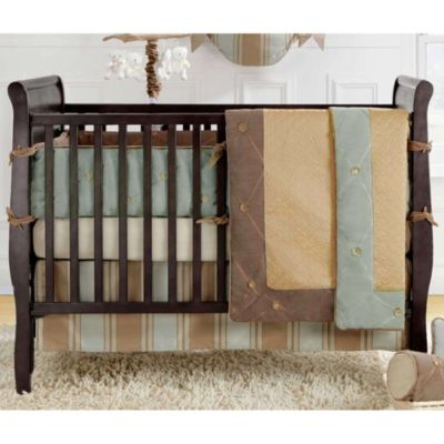 Bananafish® Logan Crib Bumper in Brown/Gold