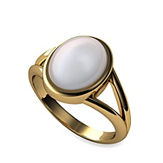 The Official Twilight Jewelry Collection Bella's Moonstone Gold-Plated Sterling or 14K Gold Ring