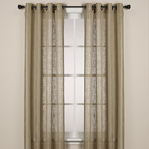 Alton 108 Inch Solid Grommet Window Curtain Panel In Sage
